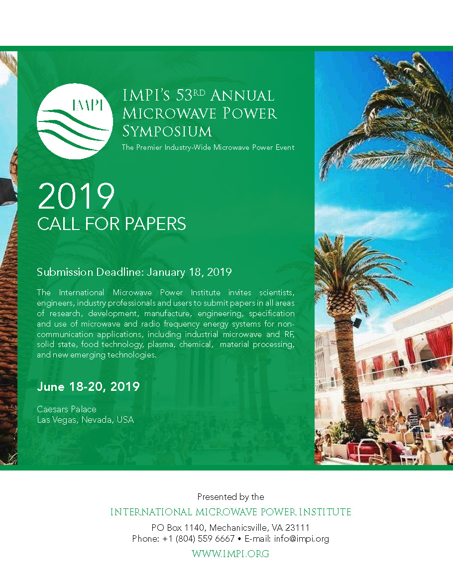 2019 Call for Papers IMPI