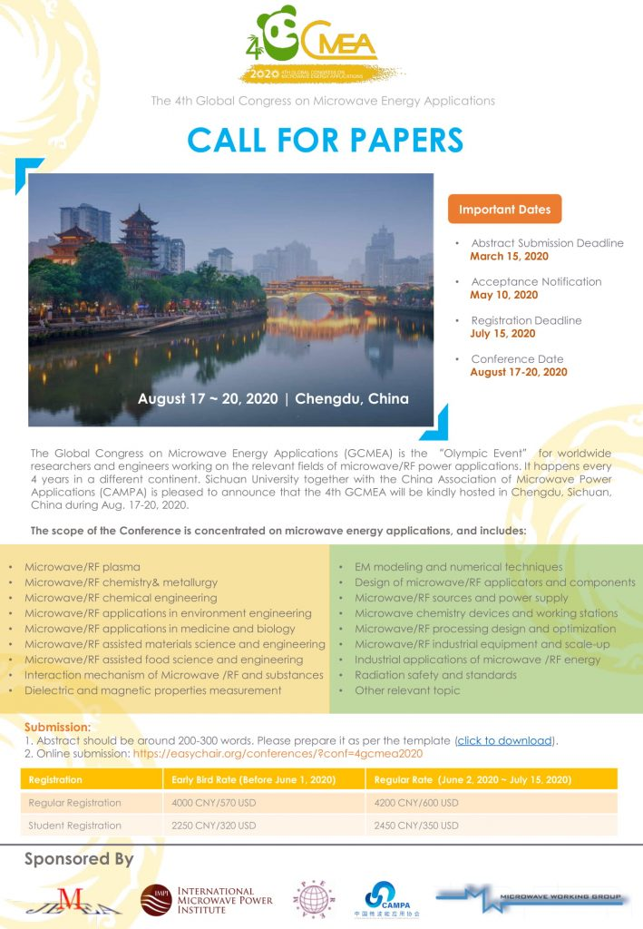 4GCMEA 2nd Call For Papers