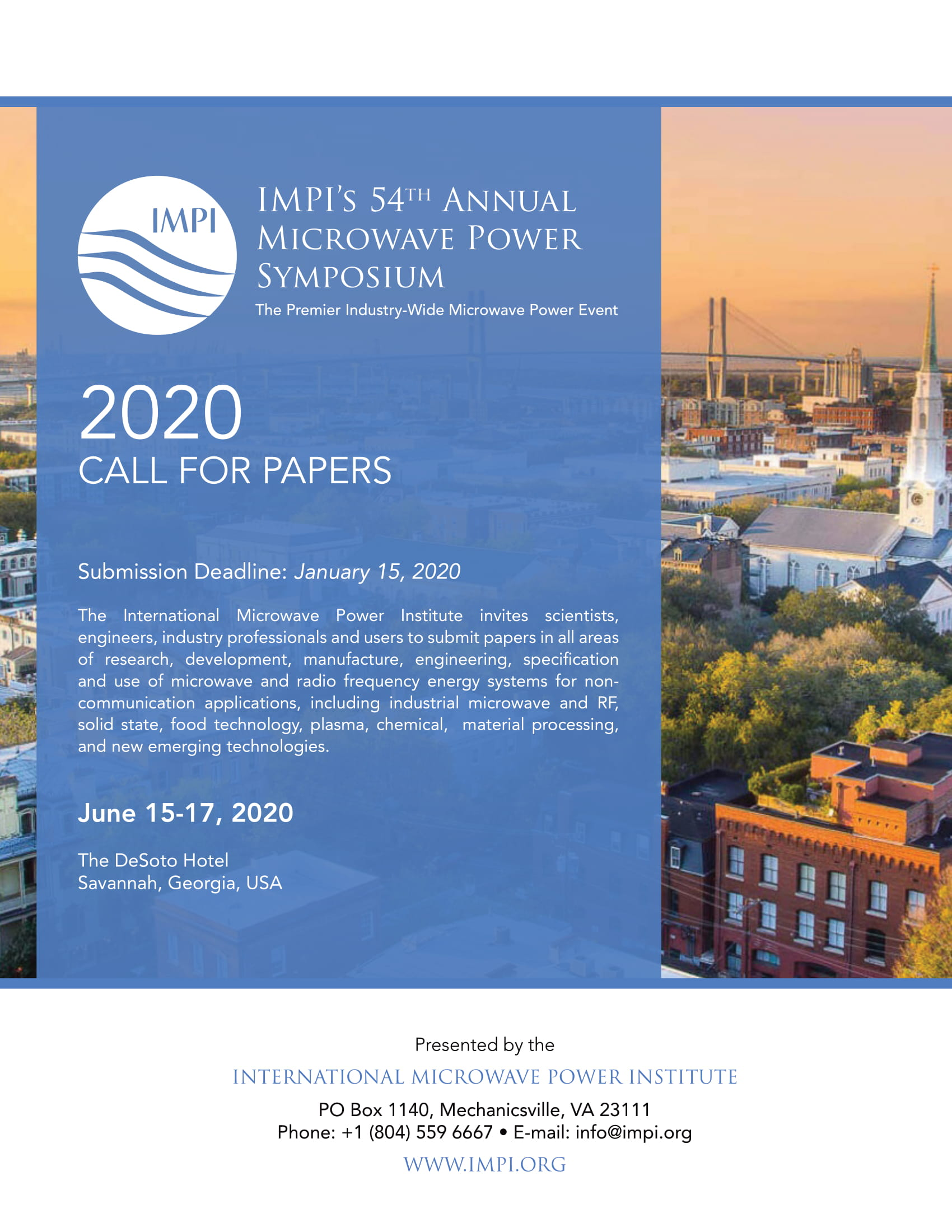 call for papers impi 2020