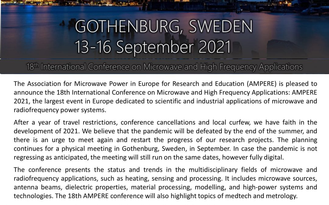 AMPERE 2021, first call for papers