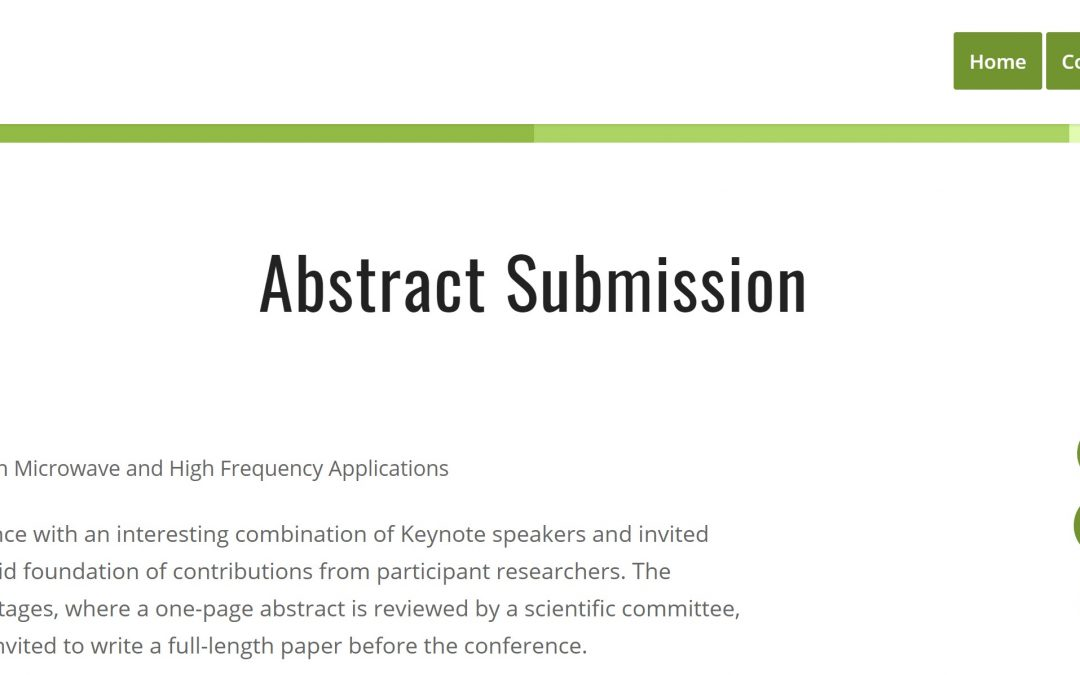 AMPERE 2021 – Abstract submission portal now open