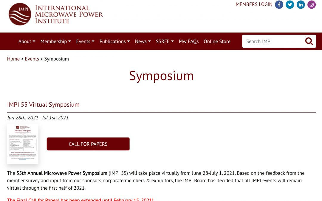 IMPI 55 Symposium (Due Feb 15th)