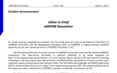 Editor of AMPERE Newsletter: position is open